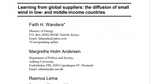 New survey-based article led by Faith H. Wandera, Margrethe Holm Andersen and Rasmus Lema